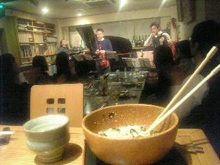 喜多直毅+黒田京子+佐藤芳明+鮪と長芋の和え物+…